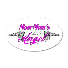 Mom-Mom's Lil' Angel 22x14 Oval Wall Peel