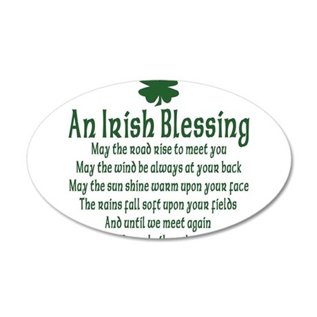 Irish Blessing 38.5 x 24.5 Oval Wall Peel