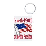 Tea Party Patriot Aluminum Photo Keychain