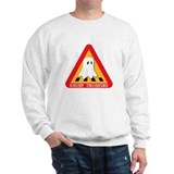 Cute Ghost Crossing Sign Sweatshirt