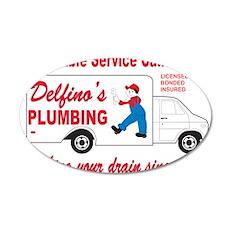 Delfino Plumbing 22x14 Oval Wall Peel