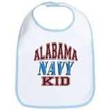 Alabama Navy Bib