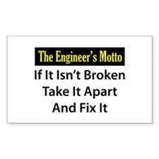 Engineer's Motto Rectangle Decal