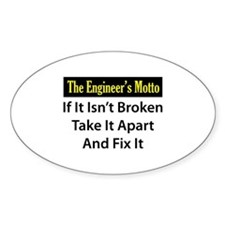 Engineer's Motto Oval Decal