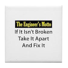 Engineer's Motto Tile Coaster