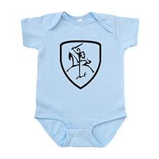 Black and White Vytis Infant Bodysuit