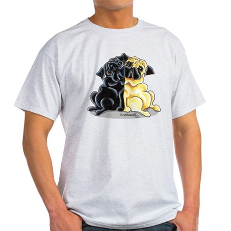 Black Fawn Pug Light T-Shirt