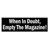 When In Doubt, Empty The Magazine Sticker (50 pk)