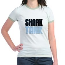 Shark Tank Blue Logo Jr. Ringer T-Shirt