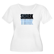 Shark Tank Blue Logo Women's Plus Size Scoop Neck