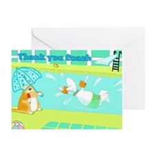 Thank you coach swimming Greeting Card