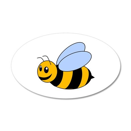 Cartoon Bee 38.5 x 24.5 Oval Wall Peel