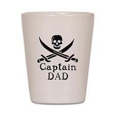 Captain Dad Shot Glass