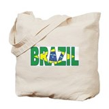 Brazil Soccer Flag  Tote Bag