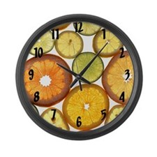 Citrus Fruit Slices Wall Clock Large Wall Clock