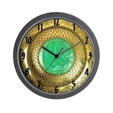 Gold and Jade Antique Wall Clock Wall Clock