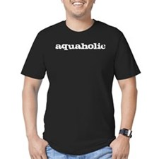 aquaholic - white T