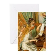 Girls at the Piano Greeting Cards (Pk of 20)