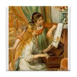 Girls at the Piano Tile Coaster