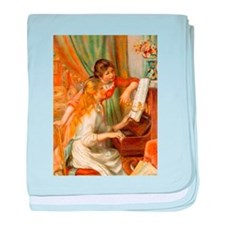 Girls at the Piano baby blanket