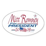 Romney for President 08 Oval Sticker