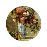 "Roses and Jasmine 3.5"" Button (100 pack)"