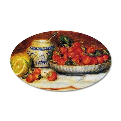Strawberries 22x14 Oval Wall Peel