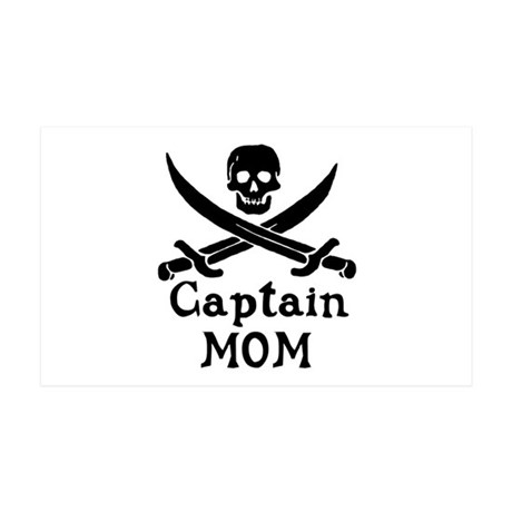 Captain Mom 35x21 Wall Decal