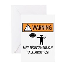 Spontaneously Talk CSI Greeting Card