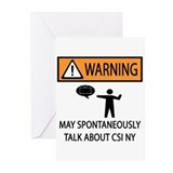 Spontaneously Talk CSI New York Greeting Cards (Pk