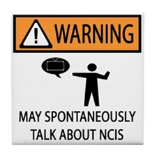 Spontaneously Talk NCIS Tile Coaster