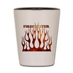 Firefighter Tribal Flames Shot Glass