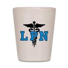 LPN Medical Symbol Shot Glass