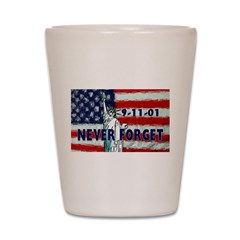 9-11-01 Never Forget Shot Glass