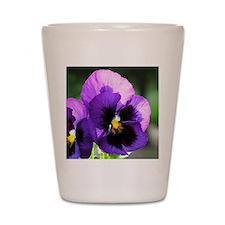 Purple Pansy Shot Glass