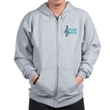 Treble Clef Band Mom Zip Hoodie