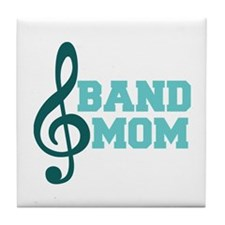 Treble Clef Band Mom Tile Coaster
