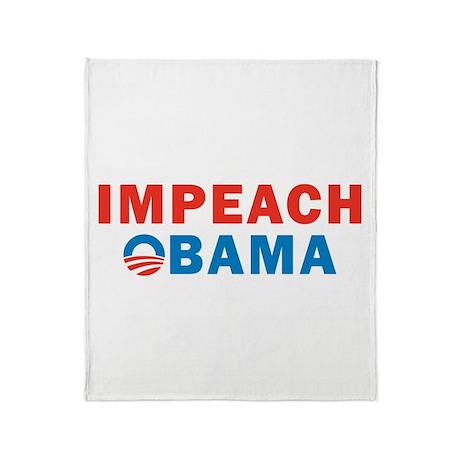 Impeach Obama Throw Blanket