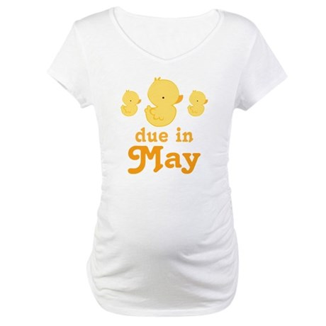 Baby Duck May Maternity Date Maternity T-Shirt
