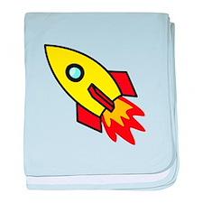 Rocket baby blanket