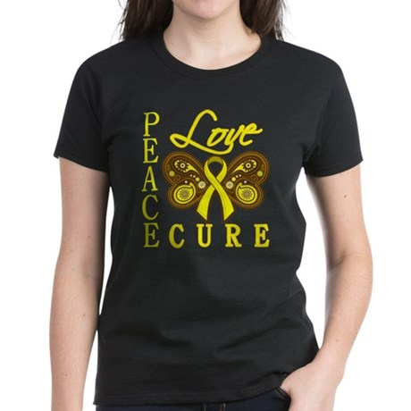 Endometriosis PeaceLoveCure Women's Dark T-Shirt