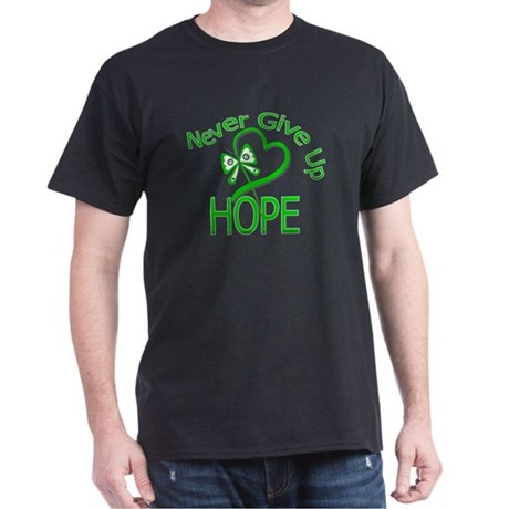 TBI Never Give Up Hope Dark T-Shirt