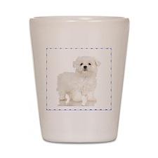 Maltese Puppy Shot Glass