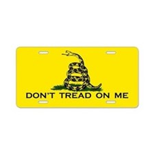 Dont Tread On Me Aluminum License Plate
