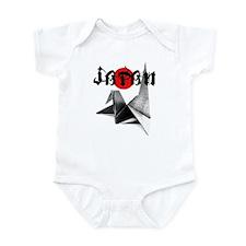 Japanese Origami Crane Relief Infant Bodysuit