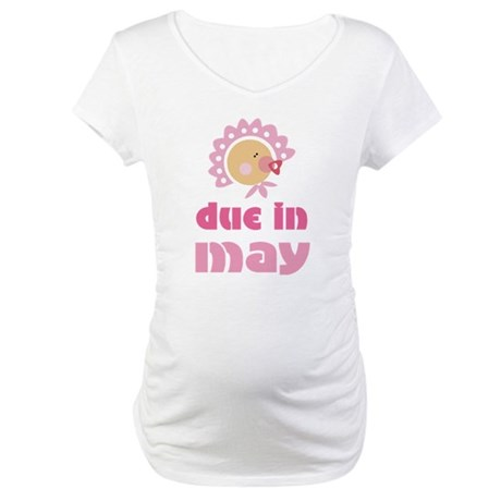 Baby Due In May Cute Maternity T-Shirt