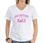 Big Sisters Rule Women's V-Neck T-Shirt
