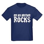My Big Brother Rocks Kids Dark T-Shirt