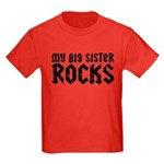 My Big Sister Rocks Kids Dark T-Shirt