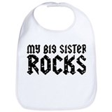 My Big Sister Rocks Bib